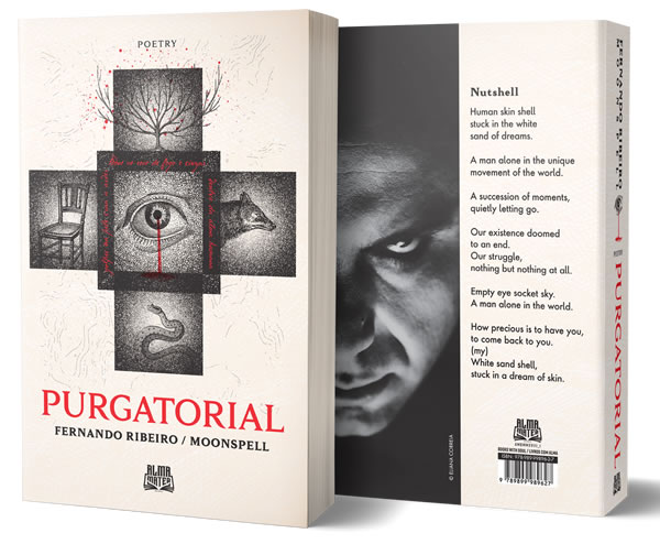 "Fernando Ribeiro ""Purgatorial - Poetic Anthology 2001-2012"" Cover"