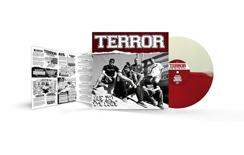 "Terror ""Live By The Code"" LP Red White"